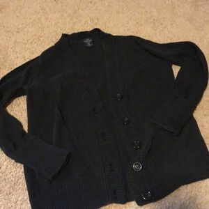 FADED GLORY (small) black button up cardigan